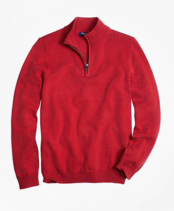 Boys Half-Zip Sweater Red
