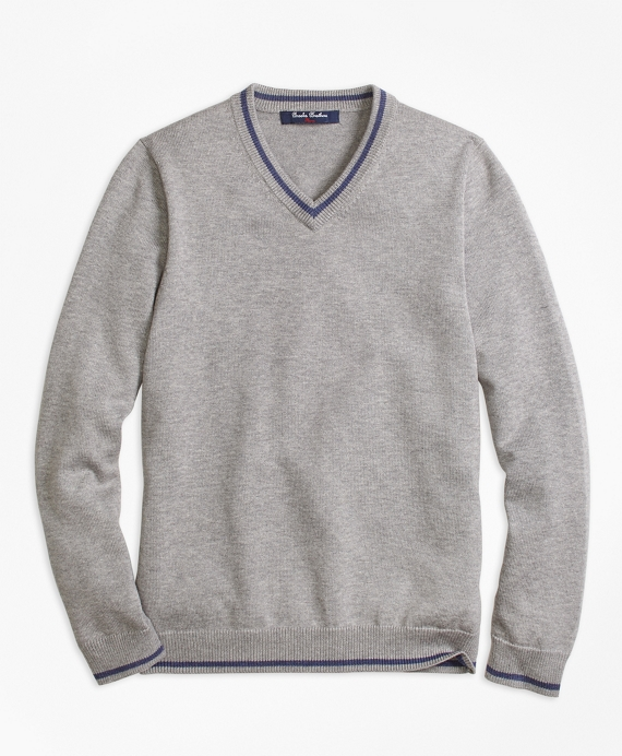 Boys V-Neck Sweater Grey