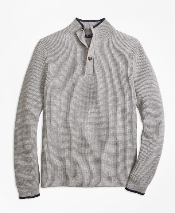 Boys Supima® Mockneck Sweater Grey