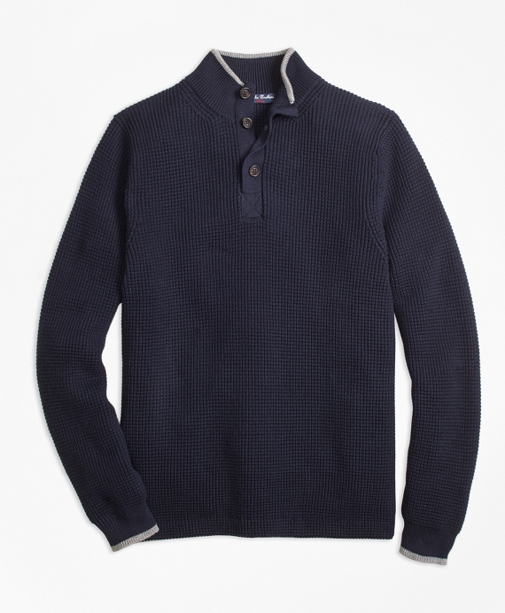 Boys Supima® Mockneck Sweater Navy