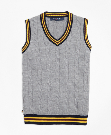 Boys Merino Wool Tipped Vest