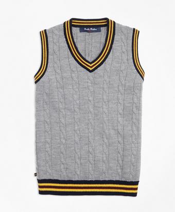 Merino Wool Tipped Vest