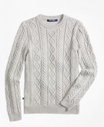 Aran Cable Crewneck Sweater
