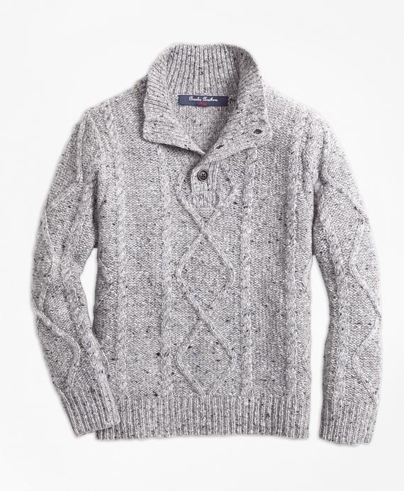Boys Wool Blend Mockneck Sweater Grey