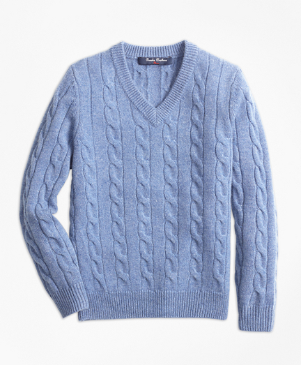 Boys Cashmere V-Neck Sweater