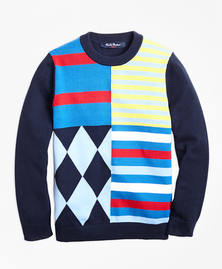 Boys Cotton Crewneck Fun Sweater