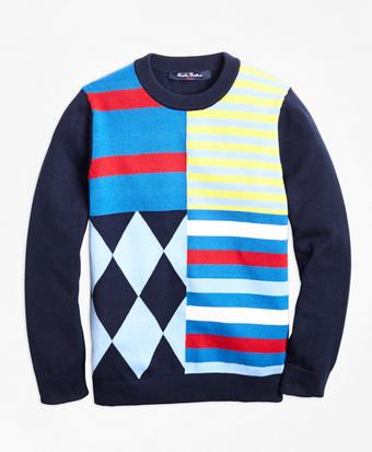 Cotton Crewneck Fun Sweater