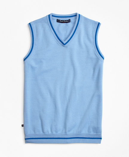 Boys Cotton Tipped Vest