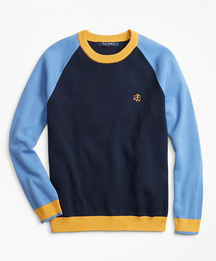 Boys Cotton Color-Block Sweater