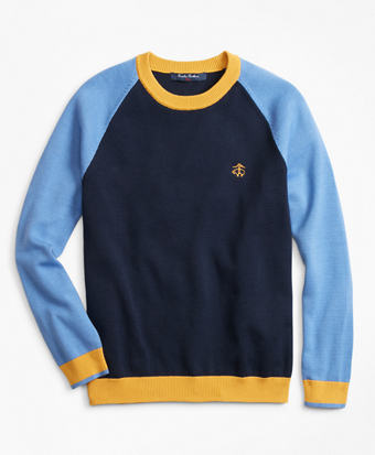 Boys Cotton Color-Block Sweater