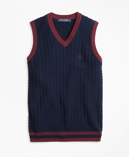 Boys Wool V-Neck Vest
