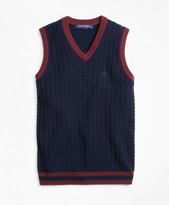 Boys Wool V-Neck Vest