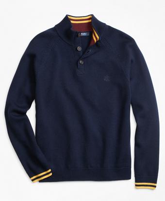 Boys Wool Mockneck Sweater