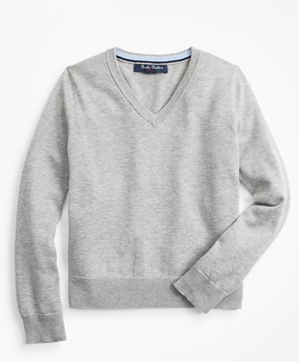 Boys Supima® Cotton V-Neck Sweater