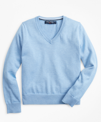 Boys Supima® Cotton V-Neck Sweater