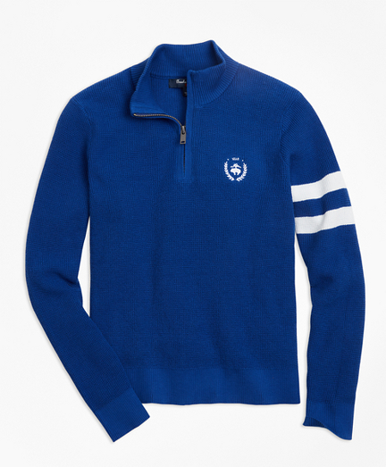 Boys Cotton Half-Zip Sweater