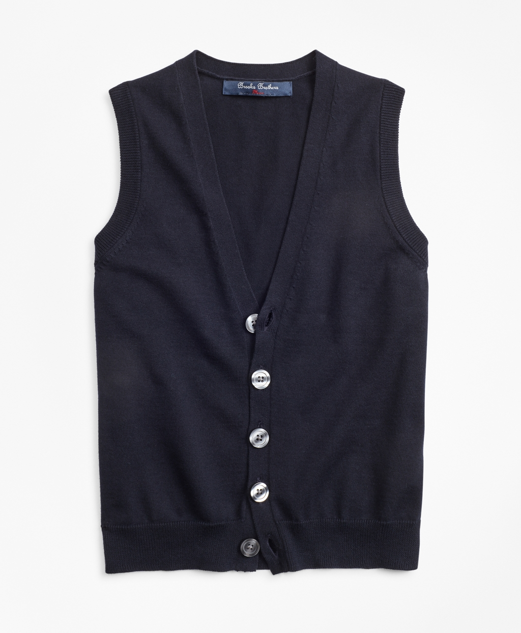 New Vintage Boys Clothing and Costumes Brooks Brothers Boys Boys Cotton Button Front Sweater Vest $19.75 AT vintagedancer.com