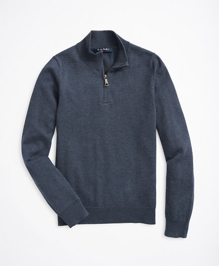 Boys Supima® Cotton Half-Zip Sweater