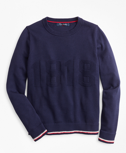 Boys Cotton 1818 Crewneck Sweatshirt