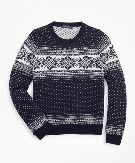 Boys Wool-Blend Snowflake Sweater