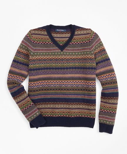 Boys Merino Wool-Blend Fair Isle Sweater