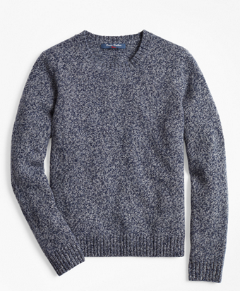 Boys Merino Wool-Blend Crewneck Sweater