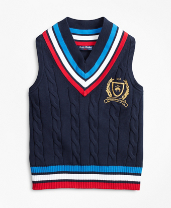 Boys Cotton Tennis Sweater Vest
