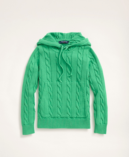 Boys Cable-Knit Hoodie