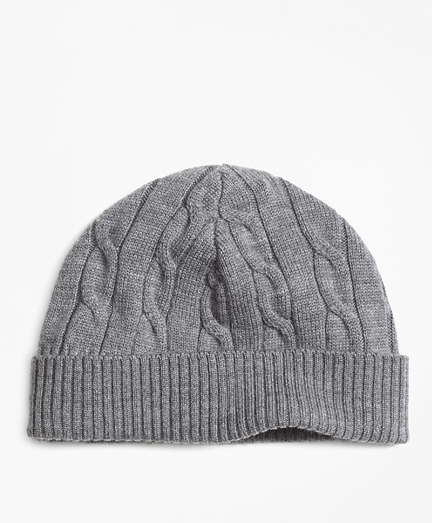 Boys Merino Wool Cable Hat