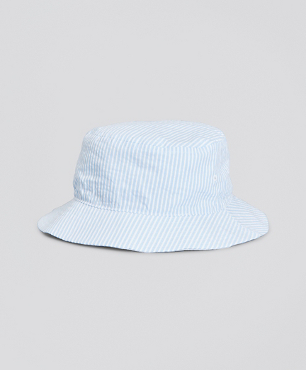 Boys Cotton Seersucker Bucket Hat