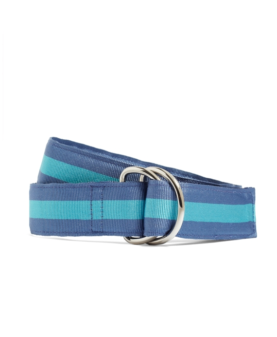 Boys Stripe Ribbon Belt Blue