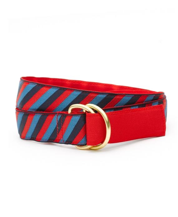 Reversible Stripe Belt Red