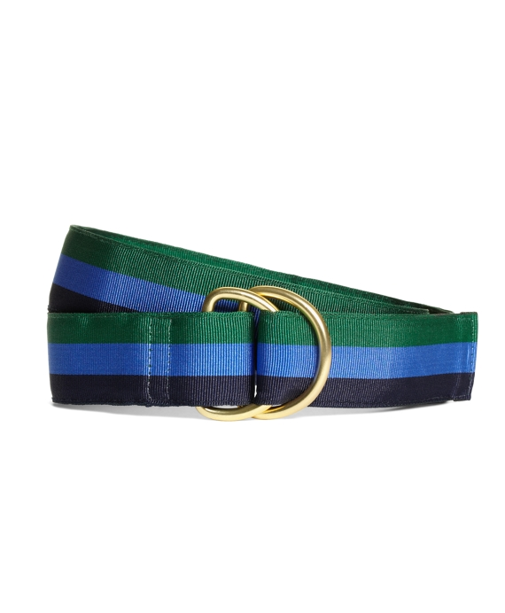 Stripe Ribbon Belt Green-Blue-Navy