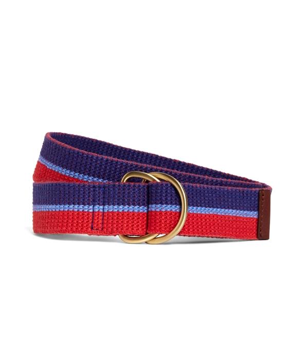 Webbed Stripe Belt Red