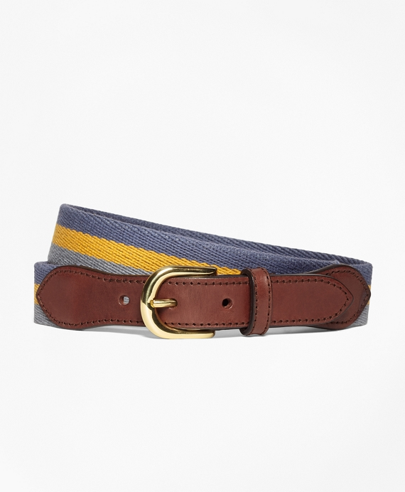 Boys Stripe Cotton Belt Blue