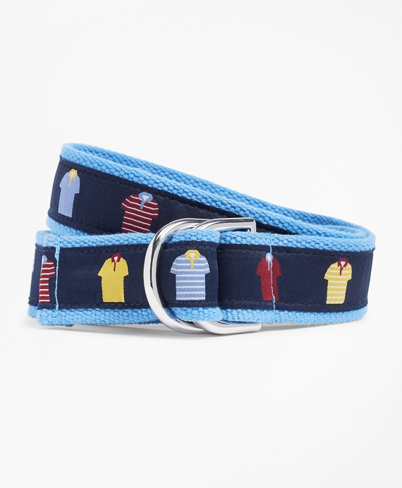Boys Polo Ribbon Belt Navy