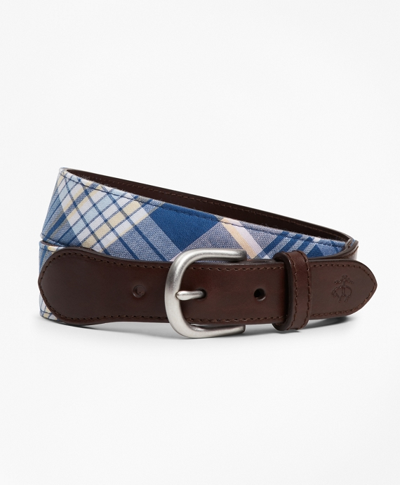 Boys Madras Casual Belt Navy-Multi