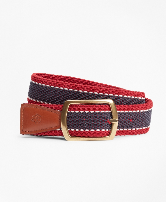 Boys Casual Belt Navy-Red