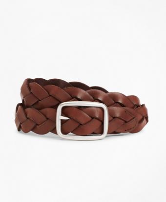 Boys Leather Braided Belt