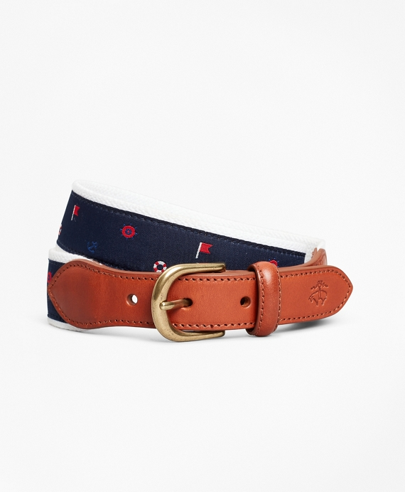Boys Casual Nautical Belt Navy