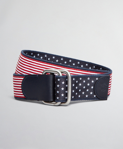Boys Reversible Stars and Stripes Belt