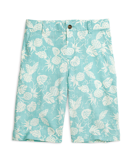 Pineapple Print Shorts