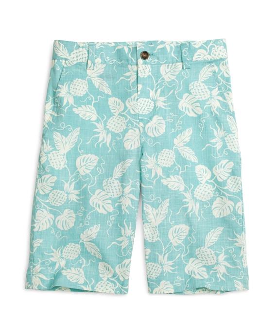 Boys Pineapple Print Shorts Aqua