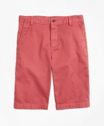 Boys Washed Cotton Stretch Chino Shorts