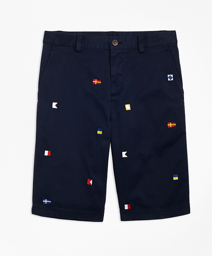 Boys Cotton Nautical Shorts