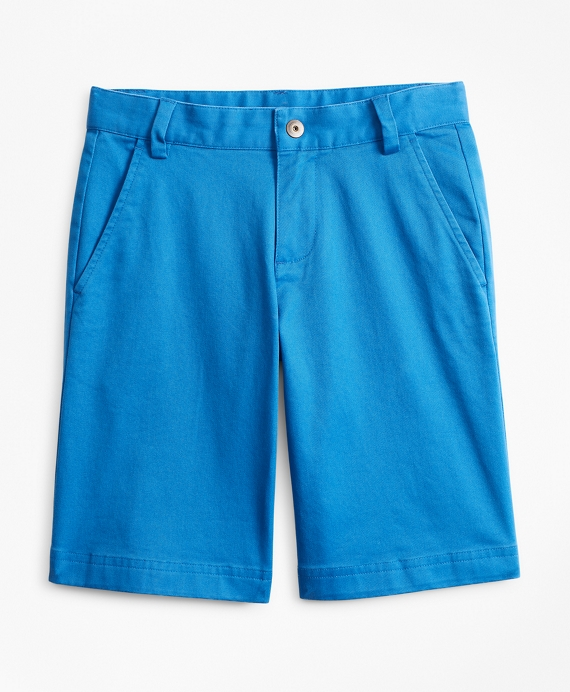 Boys Washed Cotton Stretch Chino Shorts Bright Blue