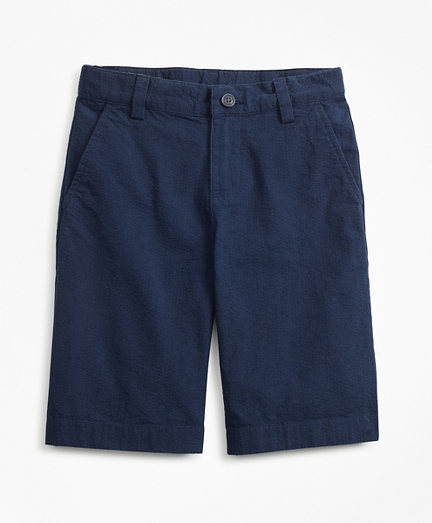 Boys Seersucker Bermuda Shorts
