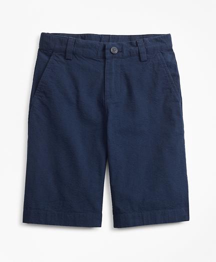 Boys Seersucker Bermuda Shorts