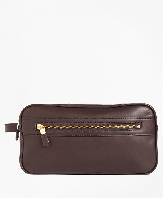Leather Travel Kit Brown