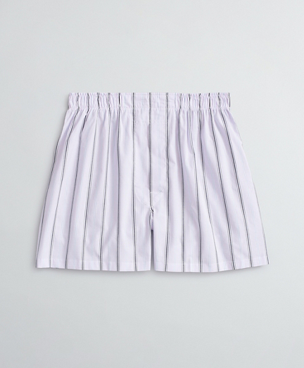 Striped Cotton Broadcloth Boxers